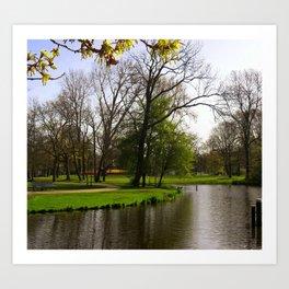 Amsterdam vondelpark Art Print