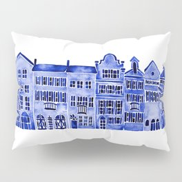 Row of Houses – Navy Palette Pillow Sham