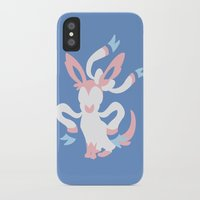 sylveon iPhone & iPod Cases featuring Sylveon by Polvo