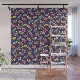 Turtles on purple Wall Mural