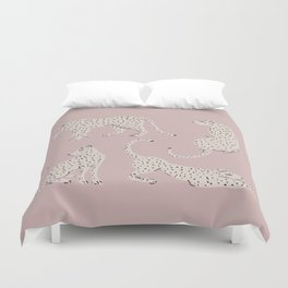 LEOPARD BLOCK PARTY - PINK Duvet Cover