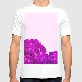 Purple Peonies On A Pink Background #decor #society6 #buyart T-shirt