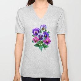 Bouquet of violets I Unisex V-Neck