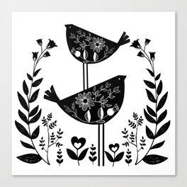 Danish Birds Of Good Luck And Good Life Canvas Print