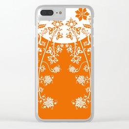 floral ornaments pattern wbm180 Clear iPhone Case
