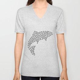 Hooked Fish 1 Unisex V-Neck