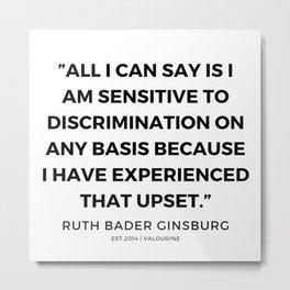 34      191115   Ruth Bader Ginsburg Quotes Metal Print