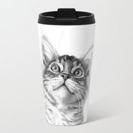 Kitten looking up G115 Travel Mug