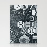 blankets Stationery Cards featuring Math Class by Chicca Besso
