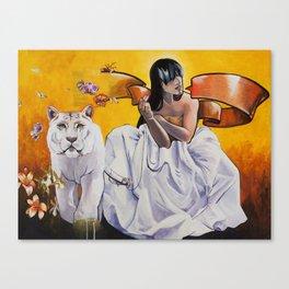 Muse- Yellow Canvas Print