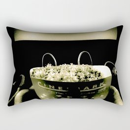 Date Night At The Movies (Black & White) Rectangular Pillow
