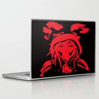 red riding hood Laptop & iPad Skins featuring Miss Red riding hood  by Sammycrafts