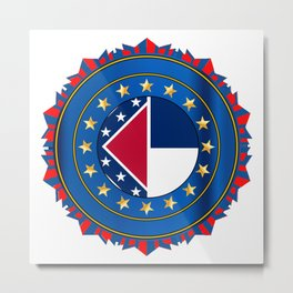 MississippiState Flag As A Badge Metal Print