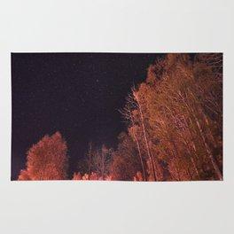 Firey woods Rug