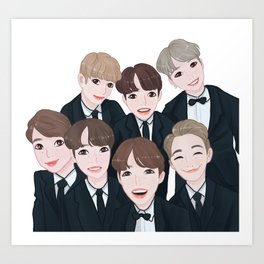BTS group shot Art Print