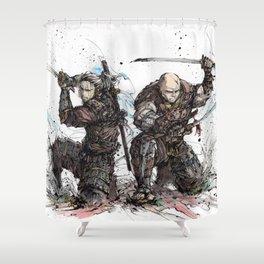 Samurai Duo - Samurai Witchers! Shower Curtain