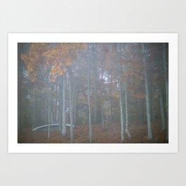 The autumn canoe Art Print