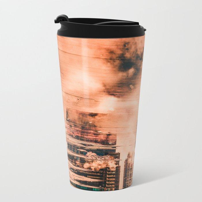 Seattle Pier 57 Dock Reflection Metal Travel Mug