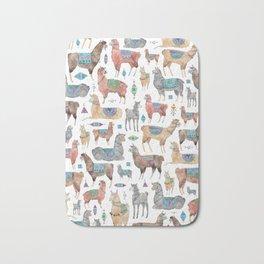 Llamas and Alpacas Bath Mat