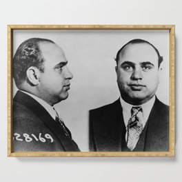Al Capone Mugshot Serving Tray