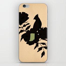 Indiana - State Papercut Print iPhone Skin