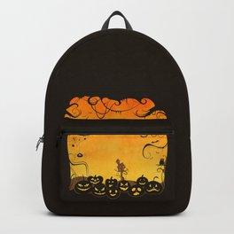 Halloween Pumpkin Faces Backpack