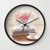shabby chic Wall Clocks featuring Shabby by Lisa Smith