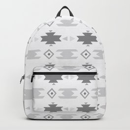 Southwestern Pattern Gray Cream Backpack