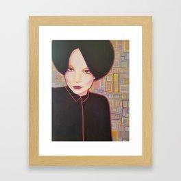 Strong woman portrait Framed Art Print