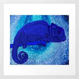 Calming Chameleon Art Print