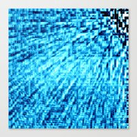 turquoise Canvas Prints featuring TURquoise Pixel Wind by 2sweet4words Designs