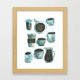 coffees watercolor Framed Art Print