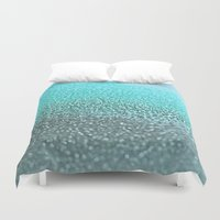 teal Duvet Covers featuring TEAL  by Monika Strigel