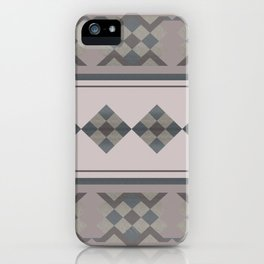 ETHNO PATTERN Folk | brown iPhone Case