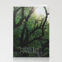 wanderlust Stationery Cards featuring Wanderlust by Leah Flores