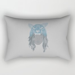Little Wolf Girl Rectangular Pillow