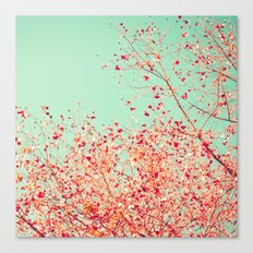 Little dots of red Canvas Print