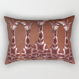 Giraffes with Flowers Safari Jungle Rectangular Pillow