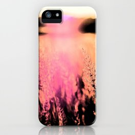 field during sunset iPhone Case