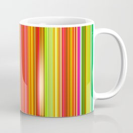 Rainbow Glowing Stripes Coffee Mug