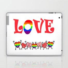 Love Happy Rainbow Hearts Laptop & iPad Skin