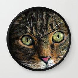Mesmer Eyes- Cropped Wall Clock