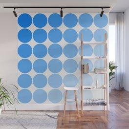 Blue Circle Color Chart Wall Mural