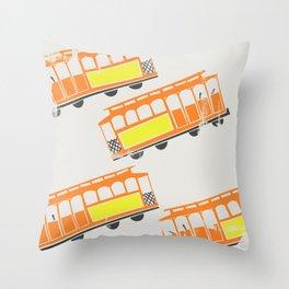 San Francisco Streetcars Throw Pillow