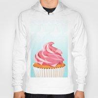 cupcake Hoodies featuring Cupcake by kalieda