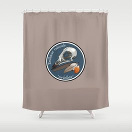 Erithacus rubecula Shower Curtain