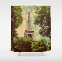 postcard Shower Curtains featuring Postcard by Emma.B