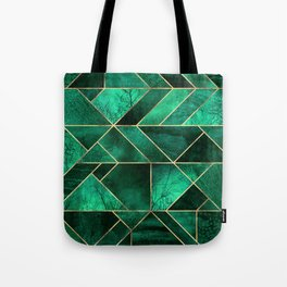 Abstract Nature - Emerald Green Tote Bag
