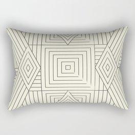 Mudcloth bege Rectangular Pillow