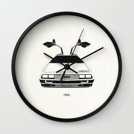 Delorean DMC 12 / Time machine / 1985 Wall Clock